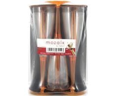 MOZAIK 6 copas de champán de plástico en color naranja (100ml)