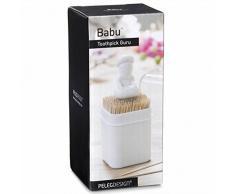 Peleg Diseño Palillo Babu, plástico, blanco, 5 x 12,5 x 5 cm