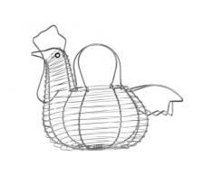Premier Housewares - Huevera (cromo), diseño de gallina