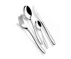 Monix Zurich - Set 75 piezas cubiertos de acero inox 18/10, estuche y cuchillo normal