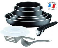 Tefal Essential-Ingenio 5 L2009802 - Juego de 10 piezas de sartenes y cacerolas (no son aptas para inducción)