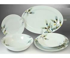 PAME 06271 - Vajilla de porcelana, 20 piezas, 36 x 25 cm