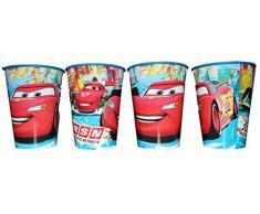 Disney Cars Vaso Zumo Vasos Juego de 4