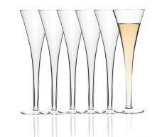 Leonardo - Juego de 6 copas de champán Fon tainen Niza en caja de regalo