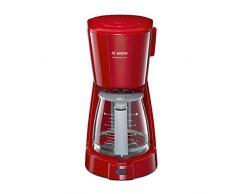 Bosch TKA3A034 CompactClass Extra Cafetera de goteo, capacidad para 10 tazas,1,25 litros, color rojo