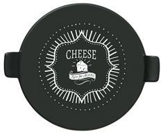 Taylors Eye Witness redondo plato para queso con asas, negro