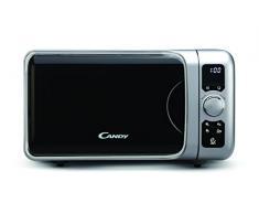 Candy EGO-G25DCS - Microondas con grill, 25 L, 900 W / 1000 W, 6 programas automáticos, color Plateado, 29,1 x 49,8 x 41 cm