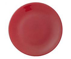 Villeroy & Boch Colour Concept Plato de Presentación de 32 cm de Diámetro, Cristal, Rojo, 32x32x3 cm