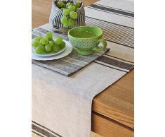 1 unidad. Camino de mesa Provance de lino. Color negro. LinenMe 50 x 128 cm.