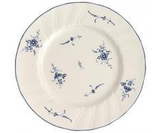 Villeroy and Boch Vieux Luxemburg - Plato llano con diseño de flores (21 cm), color blanco