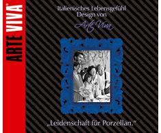 ARTE VIVA 120003 - Juego de café y vajilla de porcelana MIKADO, 30 piezas, cuadrado, color negro, design I love