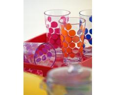 Zak ! Designs 1029-0650 - Vaso (plástico SAN, 20 cl), diseño de lunares, color naranja