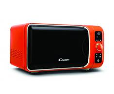 Candy EGO-G25DCO - Microondas con grill, 25 L, 900 W / 1000 W, 6 programas automáticos, color naranja, 29,1 x 49,8 x 41 cm