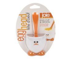 Joie Eggy Huevera con Cuchara, Blanco y Naranja, 10 cm