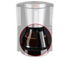 Jarra de cristal para cafetera Look Deluxe 1011-06 o Timer 1011-08 Melitta color negro y acero