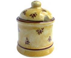 Brixton Pottery - Tarro para miel (cerámica), diseño de abejas, color rosa