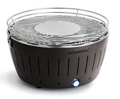 LotusGrill G-AN-435 - Barbacoa de carbón sin humo, color antracita, diámetro de la parrilla del grill de 435 mm, altura 257 mm, XL