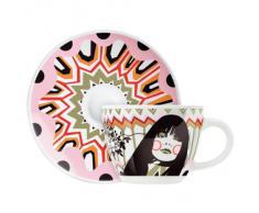 Ritzenhoff 1580089 Levett F12 - Juego de taza de café con plato