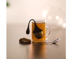 Ad Hoc TE52 Hangtea - Infusor de té con gancho pequeño (silicona y acero), color negro