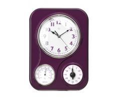 Premier Housewares - Reloj de pared con termómetro y temporizador de cocina, color morado