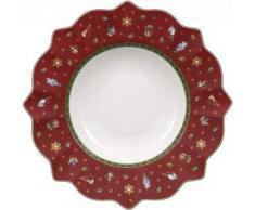 Villeroy & Boch Toy´s Delight Plato Hondo de 350 ml, Porcelana, Rojo, 26.5x26.8x14.0 cm