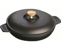 Staub 1332025 - Fuente redonda con tapa, color negro mate, tamaño 20 cm