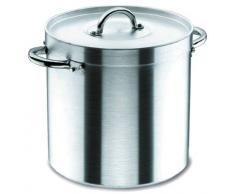 Lacor Chef 20150 - Olla recta con tapa, 50 cm, aluminio