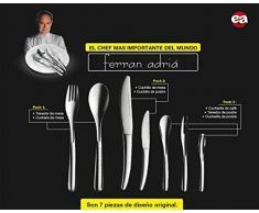 Cubertería Ferran Adriá - Set de 14 piezas cubiertos en acero inoxidable brillante con línea moderna exclusiva