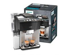 Siemens TQ507D03 Cafetera automática, 1500 W, 1.7 litros, Negro, Acero inoxidable