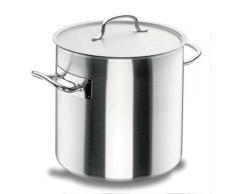 Lacor Chef-Classic 50136 - Olla recta con tapa, Acero Inoxidable 18/10, 36 cm