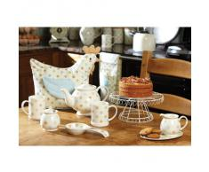 Kitchen Craft Classic - Soporte para tartas con pie, color blanco