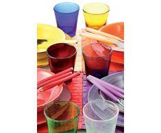 VILLA DESTE Juego de 6 Vasos de Agua Cancún, Multicolor