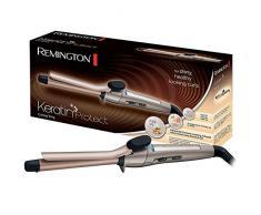 Remington Keratin Protect CI5318 – Rizador de pelo, Pinza de 19 mm, Cerámica Avanzada, Ketatina y Aceite de Almendras, Bronce