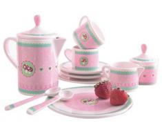 Haba 3821 - Vajilla de melamina para cocina de juguete, diseño de setas
