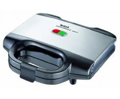 Tefal Ultracompact Sandwichera, 700 W, Negro/Plateado