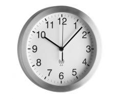 TFA 98.1091 - Reloj de pared controlado por radio, color plateado