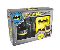 Huevera Batman con cortador de pan y cucharilla
