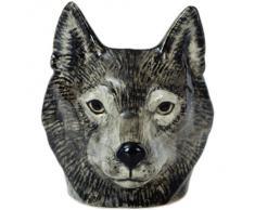 Quail Ceramics - Huevera, diseño de cara de lobo