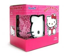 Hello Kitty - Taza regular de porcelana, color rosa (United Labels 811290)