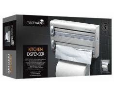 masterclass Dispensador de Papel Aluminio y Toallas de Cocina, Plata