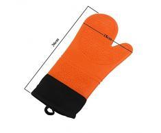 selecto Bake – Molde de silicona guantes de horno secure-grip diseño naranja – 1 par