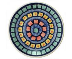 Polie Pottery - Plato pequeño pintado a mano (18 cm), diseño de cuadrados