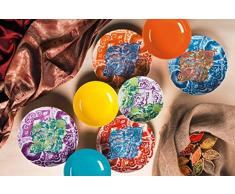 Excelsa Indian vajilla de 18Â piezas, Multicolor
