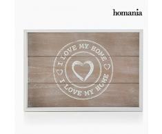 Bandeja de madera I Love Home Juego de 2 ~ 0916
