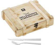 Zwilling Steak - Set juego de cubiertos, acero inoxidable, 12 piezas