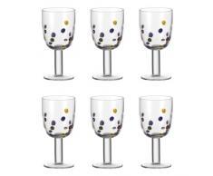 Leonardo 017190 Millefiori - Juego de copas de vino (6 unidades)