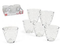 Bormioli Rocco 074208 - Juego de 6 vasos de agua, 26 cl, diseño de lunares
