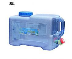 Cubo De Agua Portátil Garrafa Plegable, 5L/8L Depósito De Agua Reutilizable Almacenamiento De Agua Sin BPA, Contenedor De Agua con Grifo para Camping Senderismo Picnic Barbacoa Y Rescate
