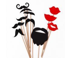 CLE DE TOUS@ 31pcs Set Accesorios para Photocalls Photocall Wedding Set Las pajitas Papel Decorativo Para Fiesta Boda