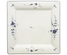 Villeroy and Boch Vieux Luxemburg - Plato llano cuadrado (27 cm), diseño de flores, color blanco